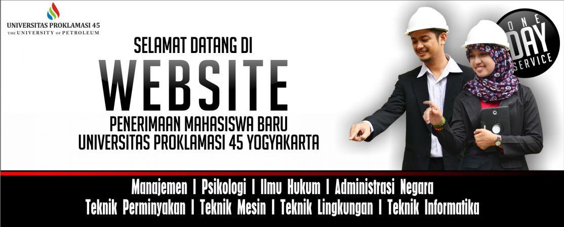 Selamat Datang Di Website Penerimaan Mahasiswa Baru Universitas Proklamasi 45 Yogyakarta